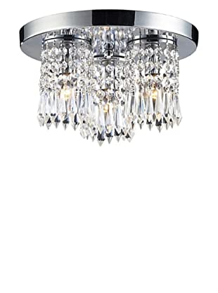 Artistic Lighting 3-Light Flush Mount, Polished Chrome