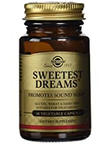 Solgar Sweetest Dreams Vegetable Capsules with L-Theanine and Melatonin, 30 Count