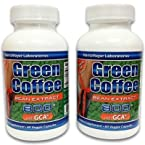 Pure Green Bean Coffee Extract 50% Chlorogenic Acid 800Mg With Gca (2-Pack)