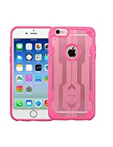 MyBat Cell Phone Case for Apple iPhone 6/6s - Retail Packaging - Transparent/Gold/Pink