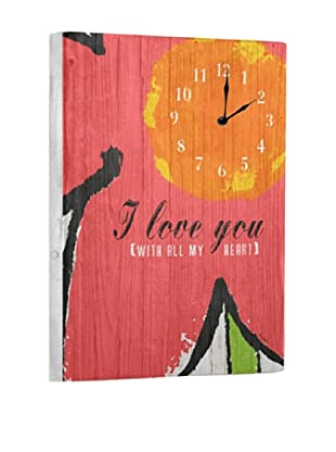 with all my heart Reclaimed Wood Clock