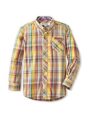 Ben Sherman Boy's Plaid Button-Up