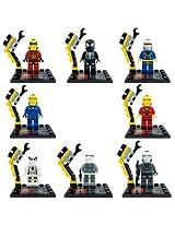 Iron man costumes Flash/Black Spider-Man/Cycorp building blocks brick compatible 8 pcs /Set 4.5 cm.