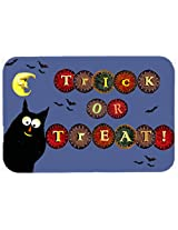 Caroline's Treasures PJC1073CMT Trick or Treat Kitty Halloween Kitchen or Bath Mat, 20 by 30 , Multicolor