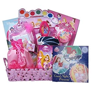 Disney Princess All Occasion Gift Basket for Girls Ideal for Birthday and Get Well Baskets