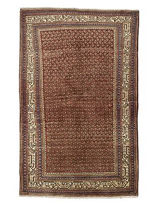Darya Rugs Authentic Persian Rug, Brown, 4' x 6'
