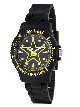 BY BASI A0871U03 - Reloj Unisex movi cuarzo correa policarbonato negro/amarillo