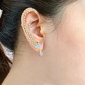 Sukkhi Sublime Gold and Rhodium Plated Cubic Zirconia Stone Studded Ear cuff