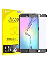 "S6 Edge Plus Screen Protector, JETech ' 0.2mm Thinnest Full Screen 5.7"" Premium Tempered Glass Screen Protector Film for Samsung Galaxy S6 Edge Plus + (Black)"