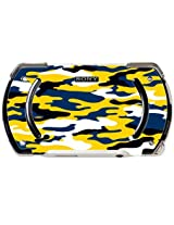 Blue And Gold Yellow Camo Camouflage Psp Go Vinyl Decal Sticker Skin By Moonlight Printing