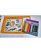 Color Pencil Gift Set Bundle - 2 Items:Artists Loft 48 Count Color Pencils and Color Me 4 Coloring B