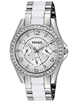 Fossil Riley Analog Silver Dial Women's Watch - ES3526I