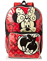 Disney Little Girls'  Minnie Backpack with Lunch, Red, One Size