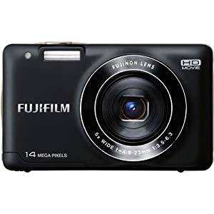 Fujifilm JX500 Point & Shoot Camera with 14.4MP, 5x Optical Zoom and 2.7 inch Screen (Black)