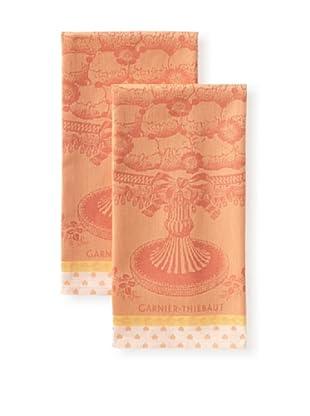 Garnier-Thiebaut Set of 2 Reception Kitchen Towels, Peche