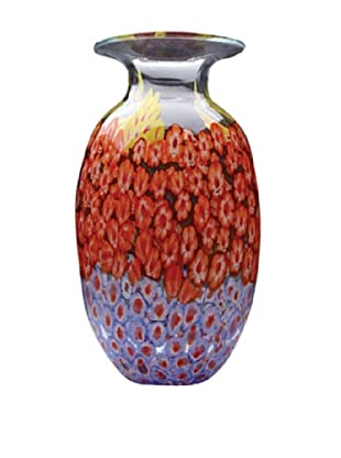 Dynasty Glass Firenze Collection - Vase - Millefiori Clear