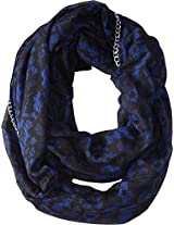 Betsey Johnson Women's Lace Attraction Infinity Blue Scarf One Size