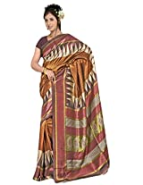 Kothari Printed Saree (KT0117_Brown)