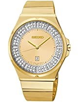Seiko Swarovski Crystal Gold-Tone Ladies Watch Sxdf72