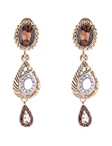 Sapna Jewellery Gold plated Dangle & Drop Earring For Women (Gold)