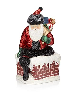 Kurt Adler Winterclaus Santa on Chimney Ornament