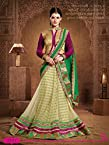 Green & Purple Designer Bridal Lehenga