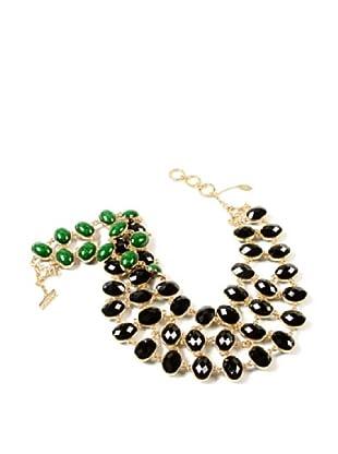 Amrita Singh Collar Reversible Cleopatra Bib Negro / Verde