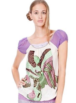 Custo Camiseta (Morado / Blanco)