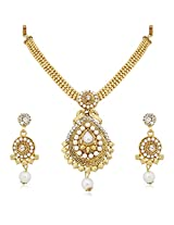 Meenaz Traditional Necklace Sets Jewellery Sets Gold Plated With Earrings For Women,Girls NL112