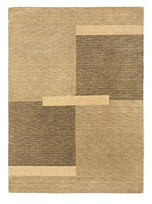 Hand-Knotted Kashkuli Gabbeh Wool Rug, Dark Gray/Khaki, 5' 9