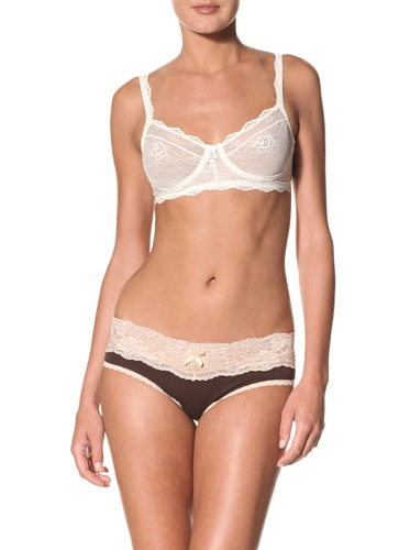 Eberjey Women's Prima Ballerina French Brief (Pack of 2) (Chocolate)