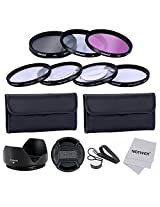 Neewer 10083564 58mm Professional Lens Filter and Close-up Macro Accessory Kit for Canon EOS Rebel T5i T4i T3i T3 T2i T1i XT XTi XSi SL1 DSLR Cameras + Filter Kit (UV, CPL, FLD) + Macro Close-Up Set (+1, +2, +4, +10)+ Filter Carrying Pouch + Tulip Flower Lens Hood + Center Pinch Lens Cap with Cap Keeper Leash + Microfiber Cleaning Cloth