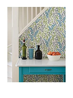 Dixon Forest Leaves Wallpaper, Blue