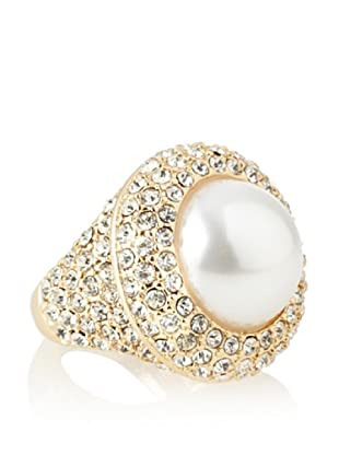 Kenneth Jay Lane Faux Pearl Center Ring