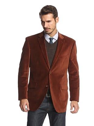 Cosani Collezioni Men's 2-Button Velvet Blazer (Spice)