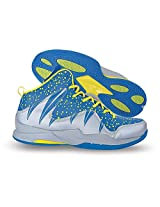 Nivia Warrior 1 Basketball Shoes, Men's 10 UK (Blue/Silver)