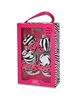 Baby Essentials Girls Bow And Sock Set - Zebra
