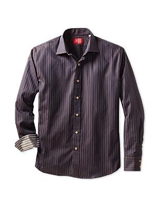 Rufus Men's Button-Up Shirt (Blue Stripe)