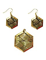 Daamak Hexagonal Pendant Set