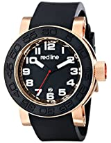red line Men's RL-50051-RG-01 Xlerator Analog Display Japanese Quartz Black Watch