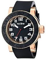 red line Men's RL-50051-RG-01 Xlerator Analog Display Japanese Quartz Black Watch