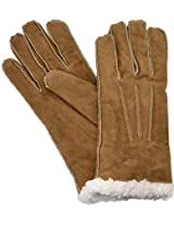 ISO Isotoner Women's Suede Gloves Sherpasoft Lining, Luggage Brown; Large