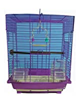 Pet Club51 HIGH QUALITY STYLISH METAL CAGE FOR PINK - MEDIUM
