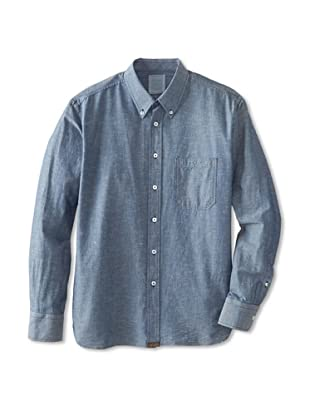 Billy Reid Men's Tuscumbia Chambray Woven Shirt (Grey)