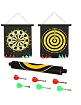 HIGH QUALITY MAGNETIC DART GAME (16 x 13 inch) - DOUBLE FACED - 6 Darts