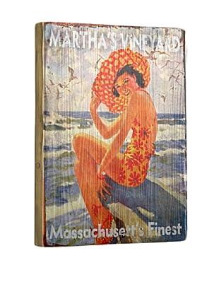 Artehouse Girl on Rock - Martha's Vineyard Reclaimed Wood Sign
