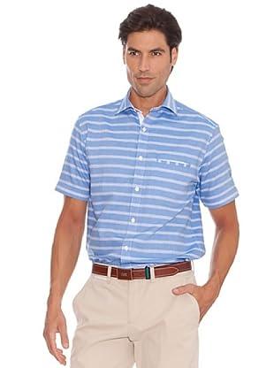 PEDRO DEL HIERRO Camisa Raya Horizontal (Azul)