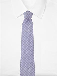 Aquascutum Men's Teardrop Silk Tie (Violet/Yellow)