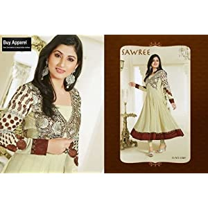 Classic White Colored Traditional Wear Heavy Embroidered Georgette Anarkali Suit by Disha Parimar