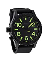 Nixon 51-30 Tide Black Dial Black Pvd Men's Watch - Nxa0581256